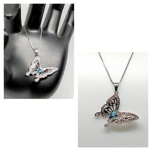 NWOT Sterling silver Butterfly necklace